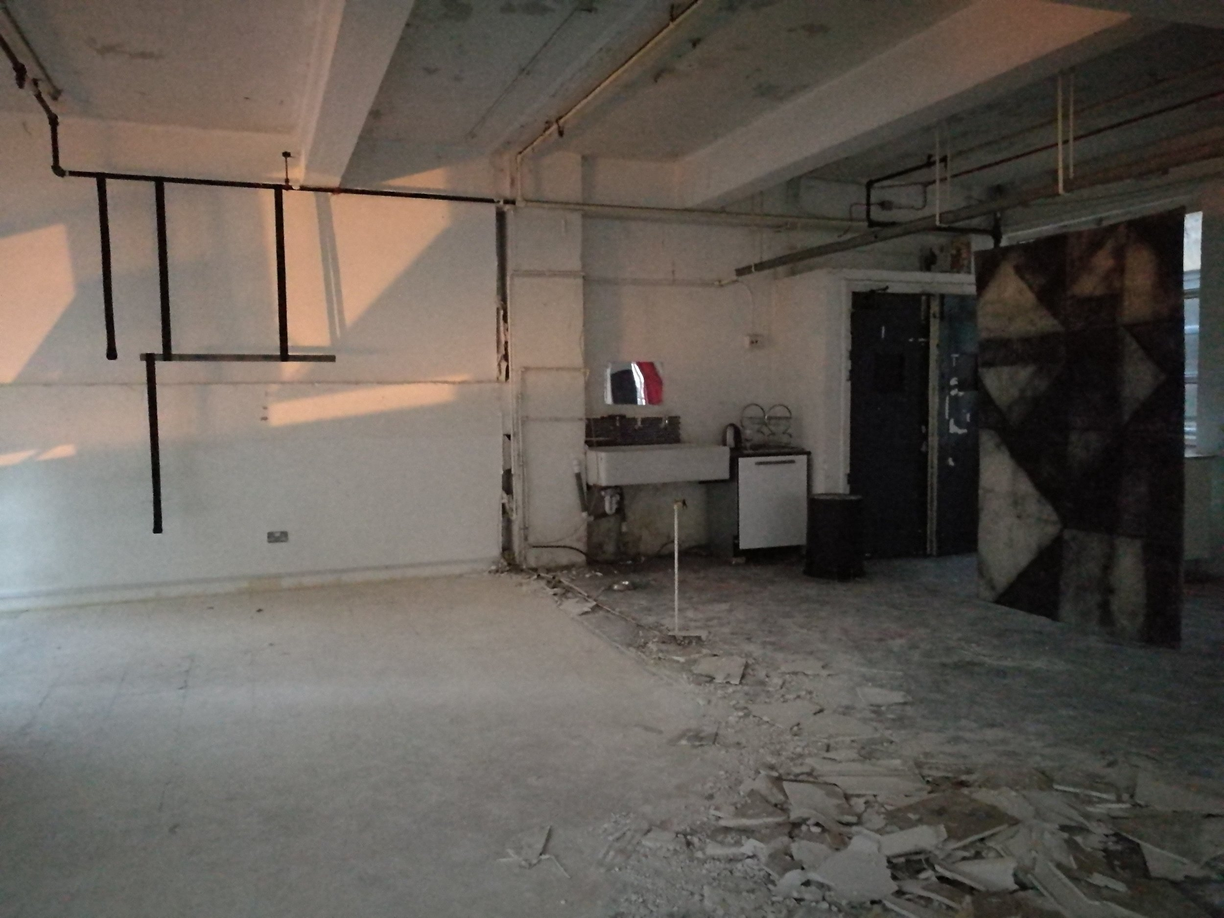 Left: Alex Canonico, installation. Melissa Castro Duarte, drawing, installation.