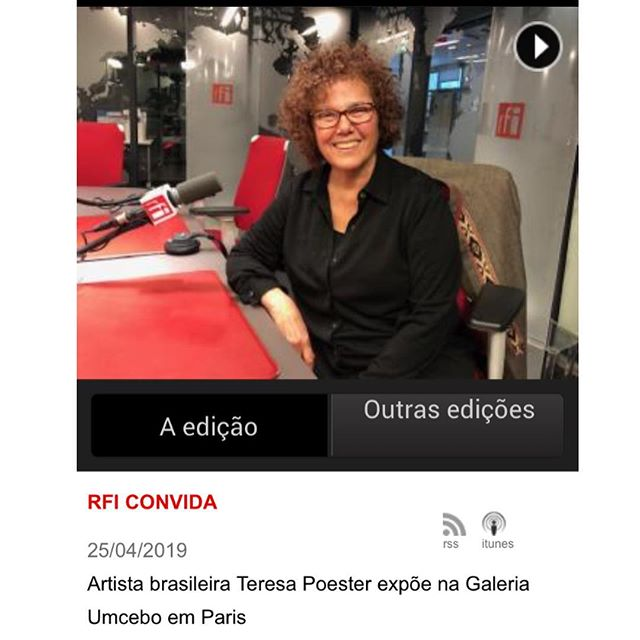 The artist of our upcoming show, @teresapoester was invited to an interview at @rfi http://m.br.rfi.fr/cultura/20190425-rfi-convida-teresa-poester . . Nous sommes ravis avec la participation de Teresa Poester, l'artiste de notre prochaine exposition, à la RFI. Voci le lien pour découvrir un peu sur sa production : http://m.br.rfi.fr/cultura/20190425-rfi-convida-teresa-poester Merci à @rfibrasil . #teresapoester #periferiaprojects #periferiaparis #galerieumcebo #dessin #drawing #lanaturedugeste