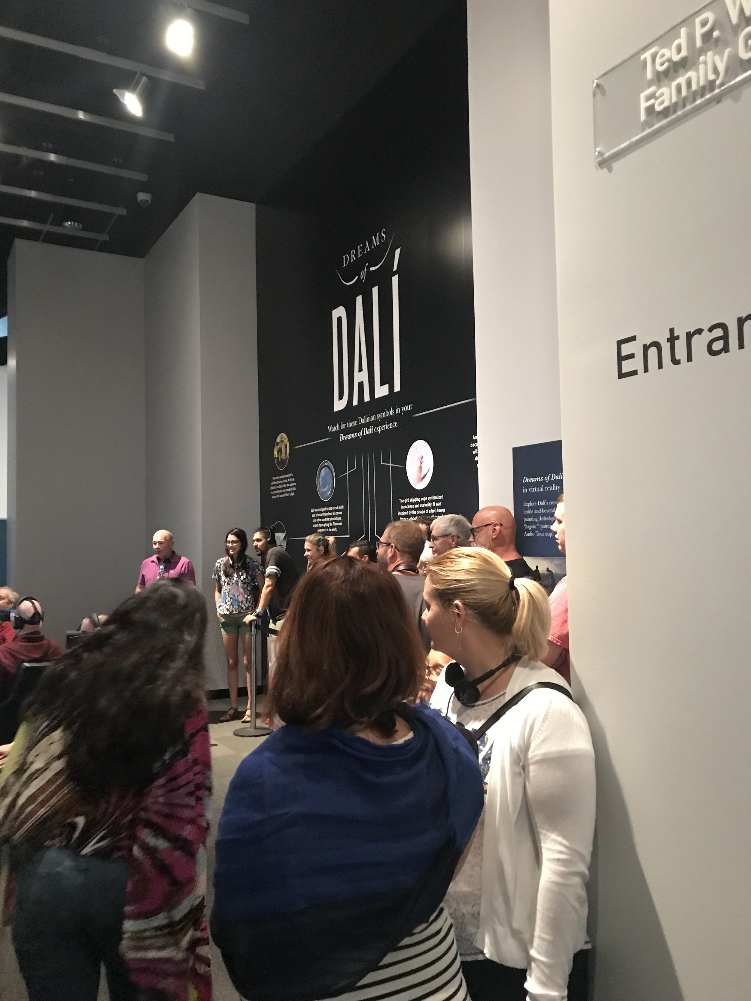 The Dreams of Dali VR experience at the Salvador Dali Museum in Saint Petersburg, Florida.