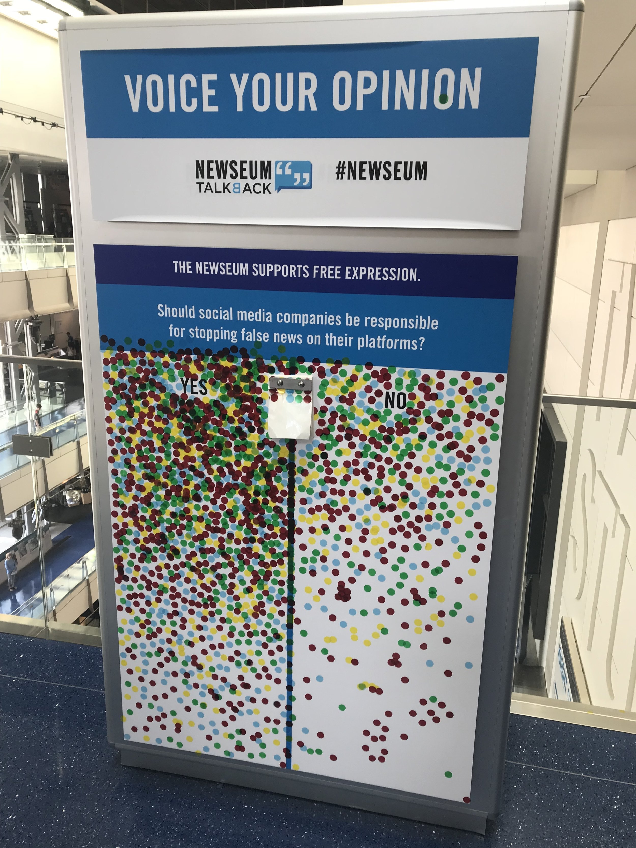 The Newseum: using static displays to engage visitors in conversation.