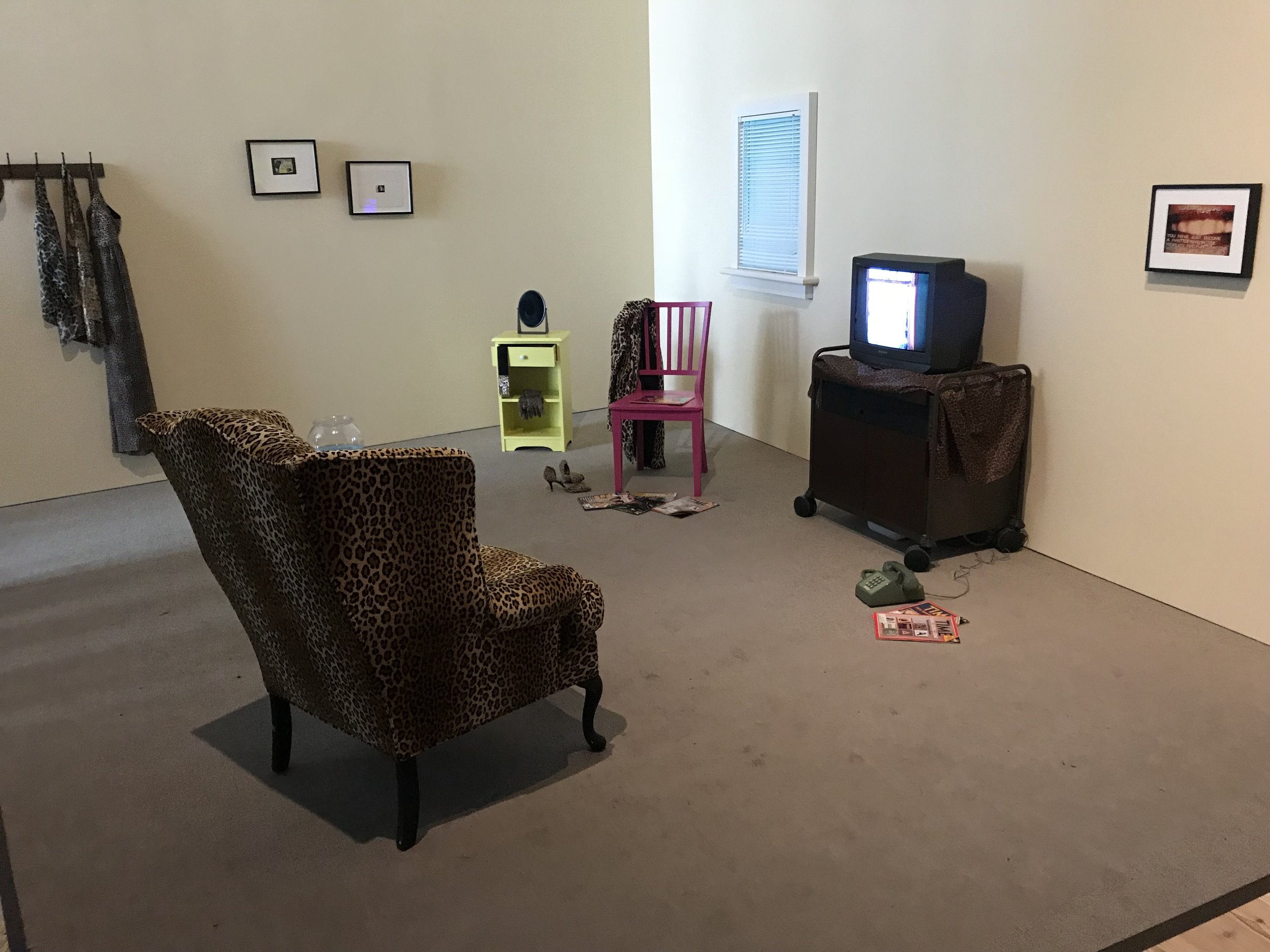 Couldn't tell you anything about this piece other than a quick story on how the artist replicated an exact copy of the living room seen from the show displayed on the television set. Stories matter.