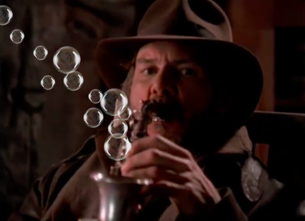 Indiana Jones and the Bubble Saxophone