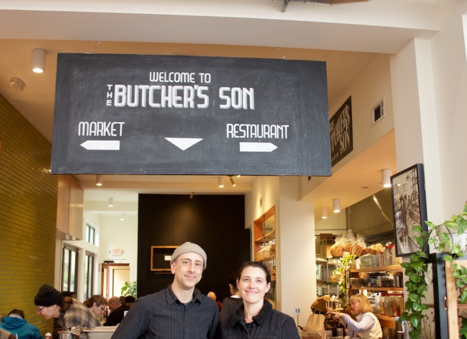 Peter (left) and Christina at the opening of our 1954 University Ave location