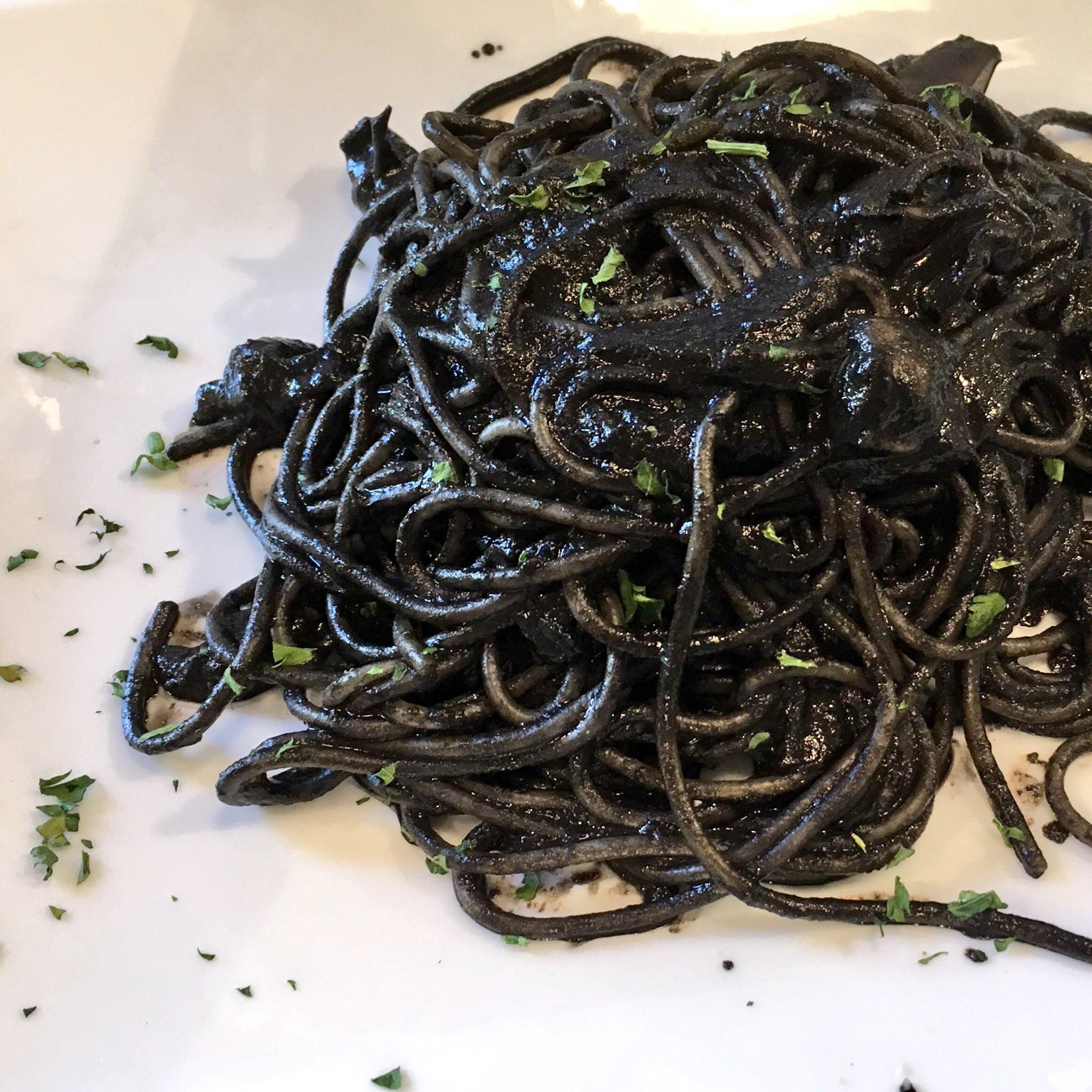 Cuttlefish ink pasta