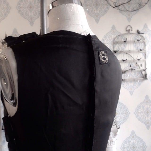 Hello my Sunday #fynapparel #draping #fitting #fashion #fashiondesign #black #dress #portlandfashion #portland