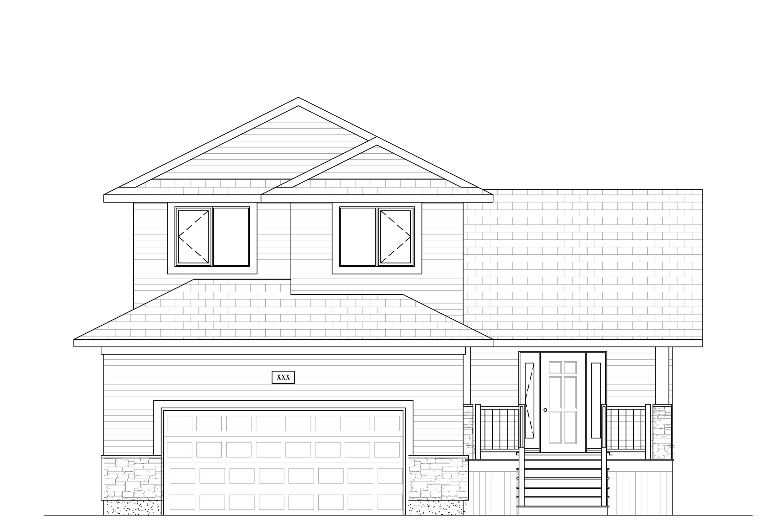 1642 Sq Ft.  38′ Wide  3 Bed /2.5 Bath