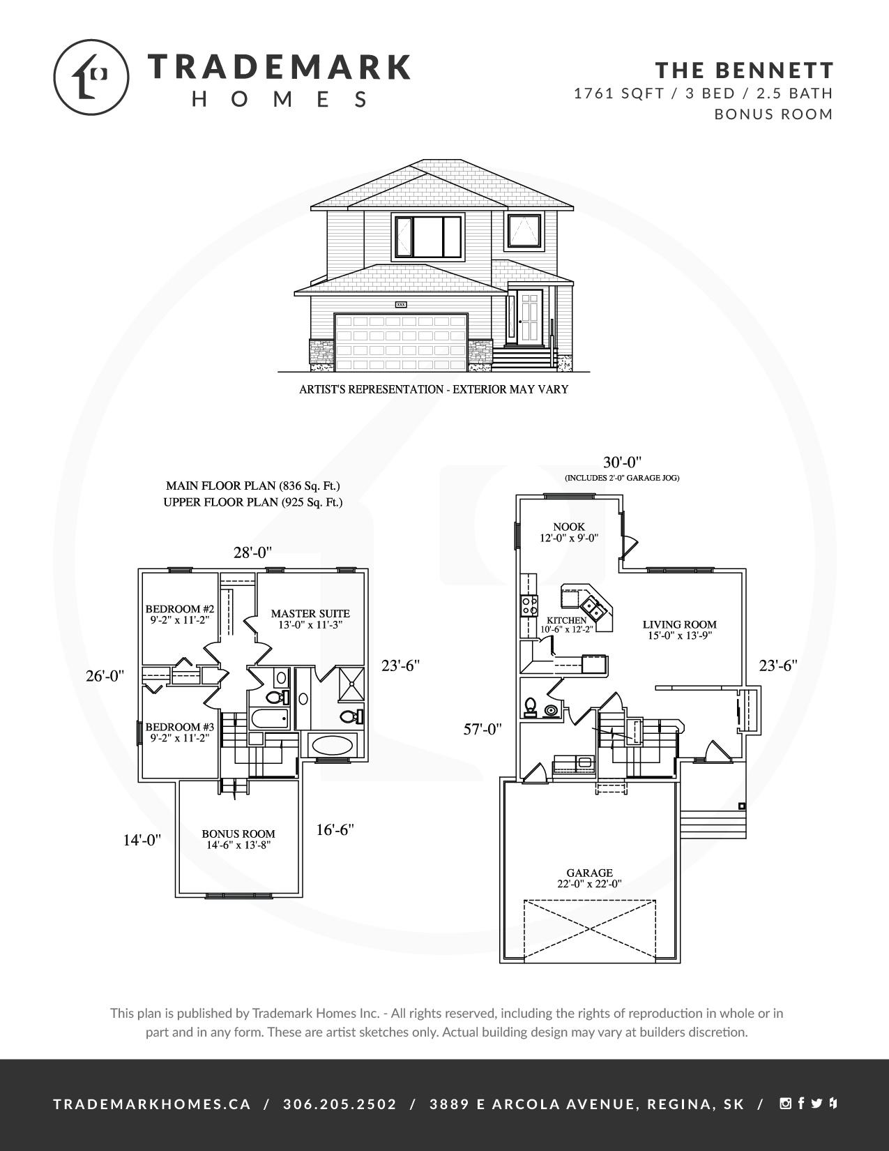 Trademark Homes The Bennett 2 Storey