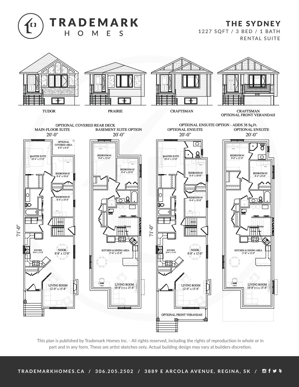 Trademark Homes The Sydney Lane Lot