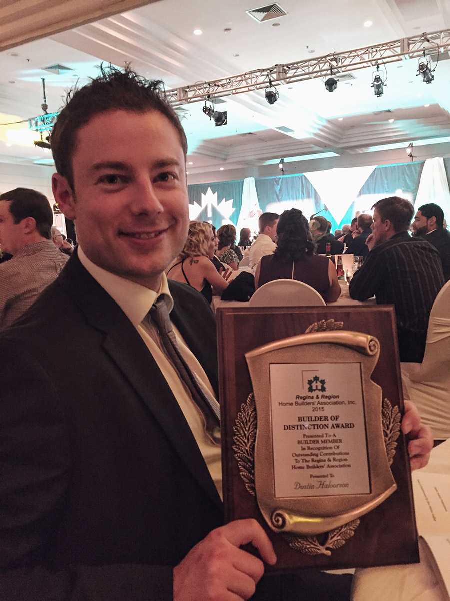 Dustin Halvorson - Builder of Distinction Award - Regina Home Builder