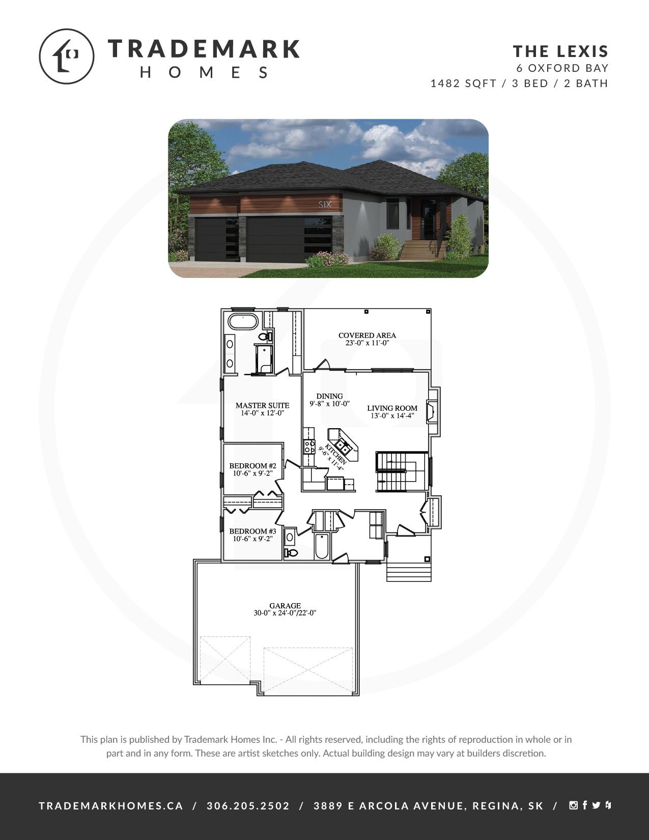 The Lexis - Floorplan - Oxford Bay - White City