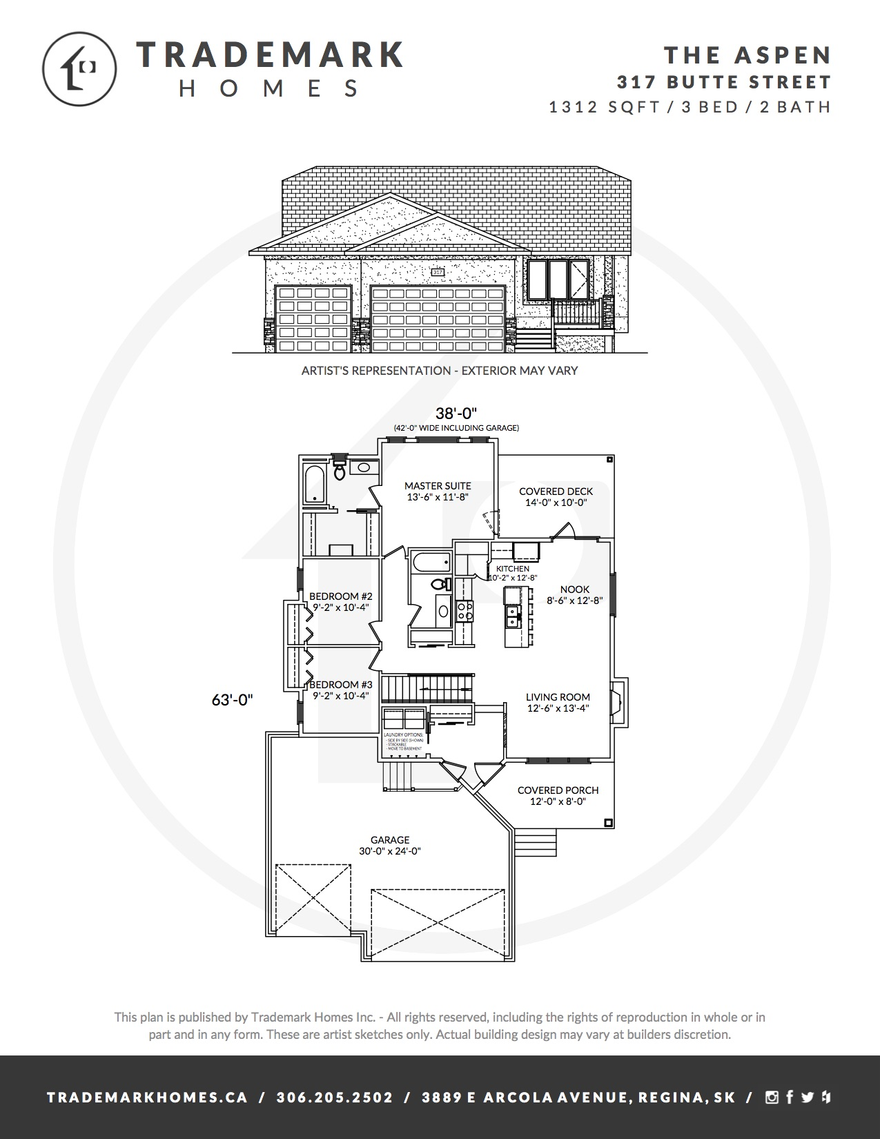 317 Butte Street - The Aspen - Floorplan - Pilot Butte
