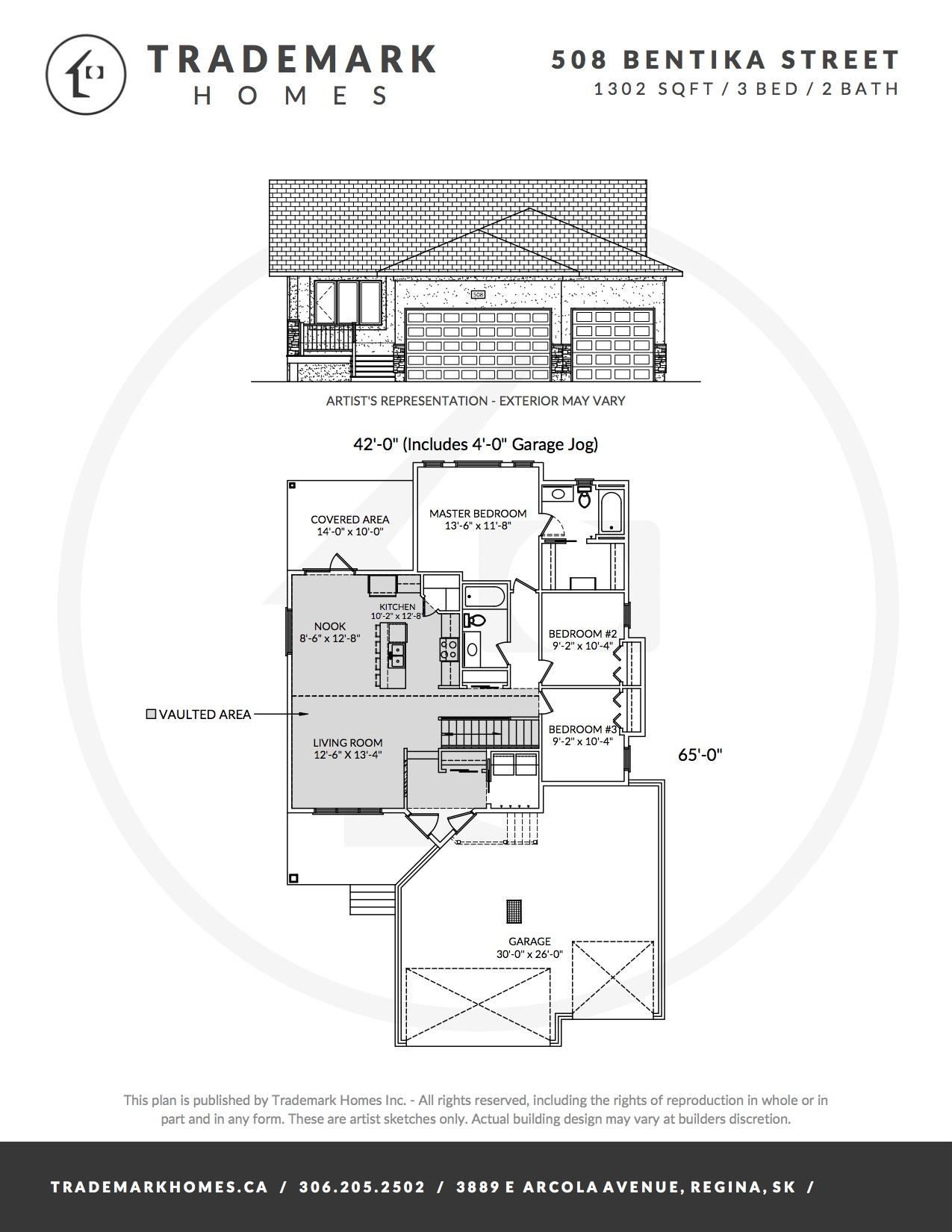 508 Bentika Street - Layout - Regina Home Builder