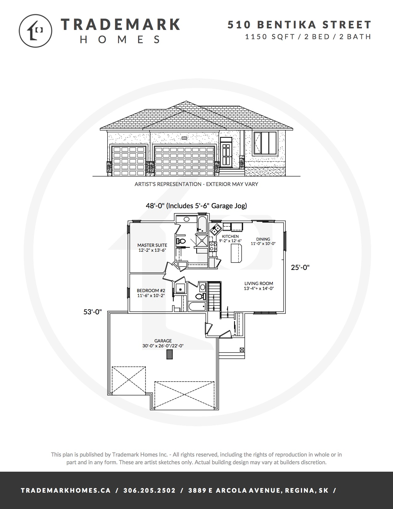510 Bentika Street - Floorplan - Regina Home Builder