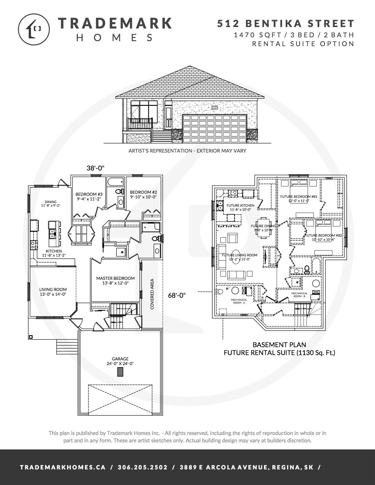 512 Bentika Street - Floorplan - Regina Home Builder