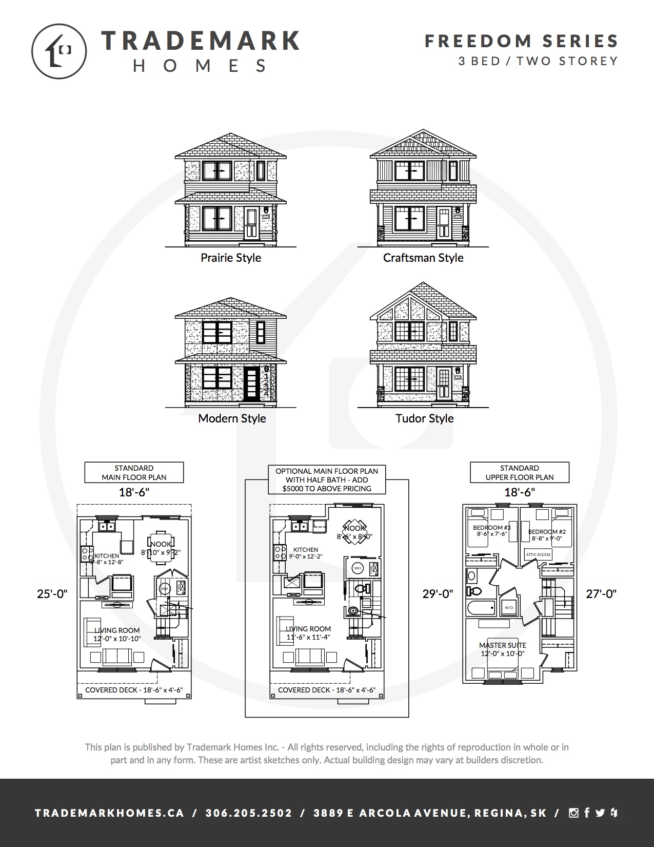 Freedom Home - 3 Bedroom - 2 Storey - Regina Home Builder