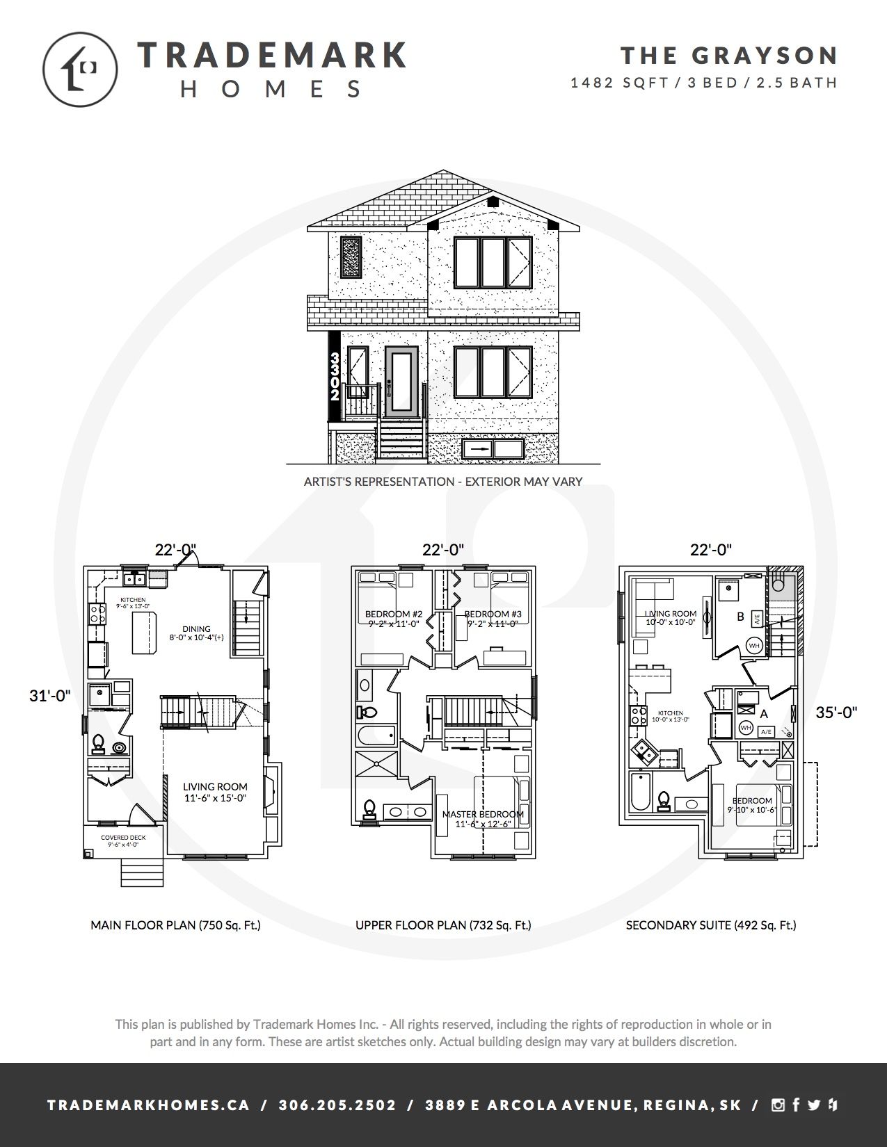 Trademark Homes The Grayson Lane Lot