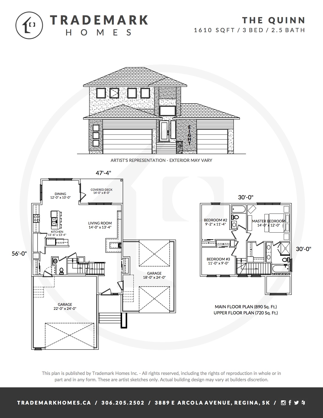 The Quinn - Floorplan - Regina Home Builder