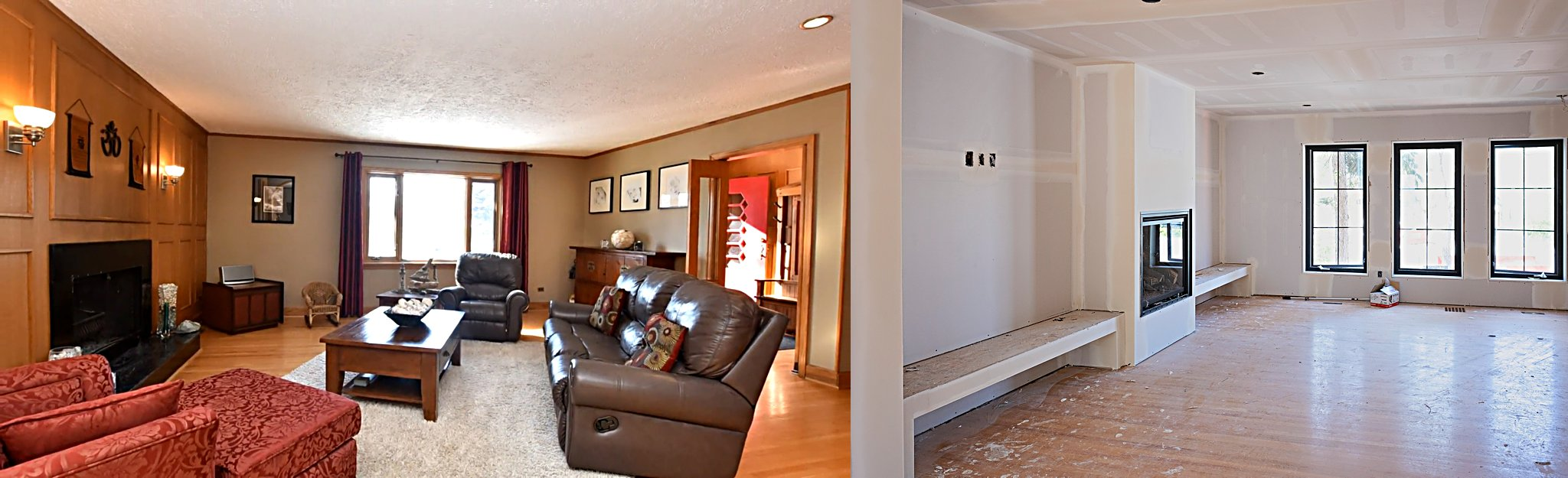 Before and After // Living room