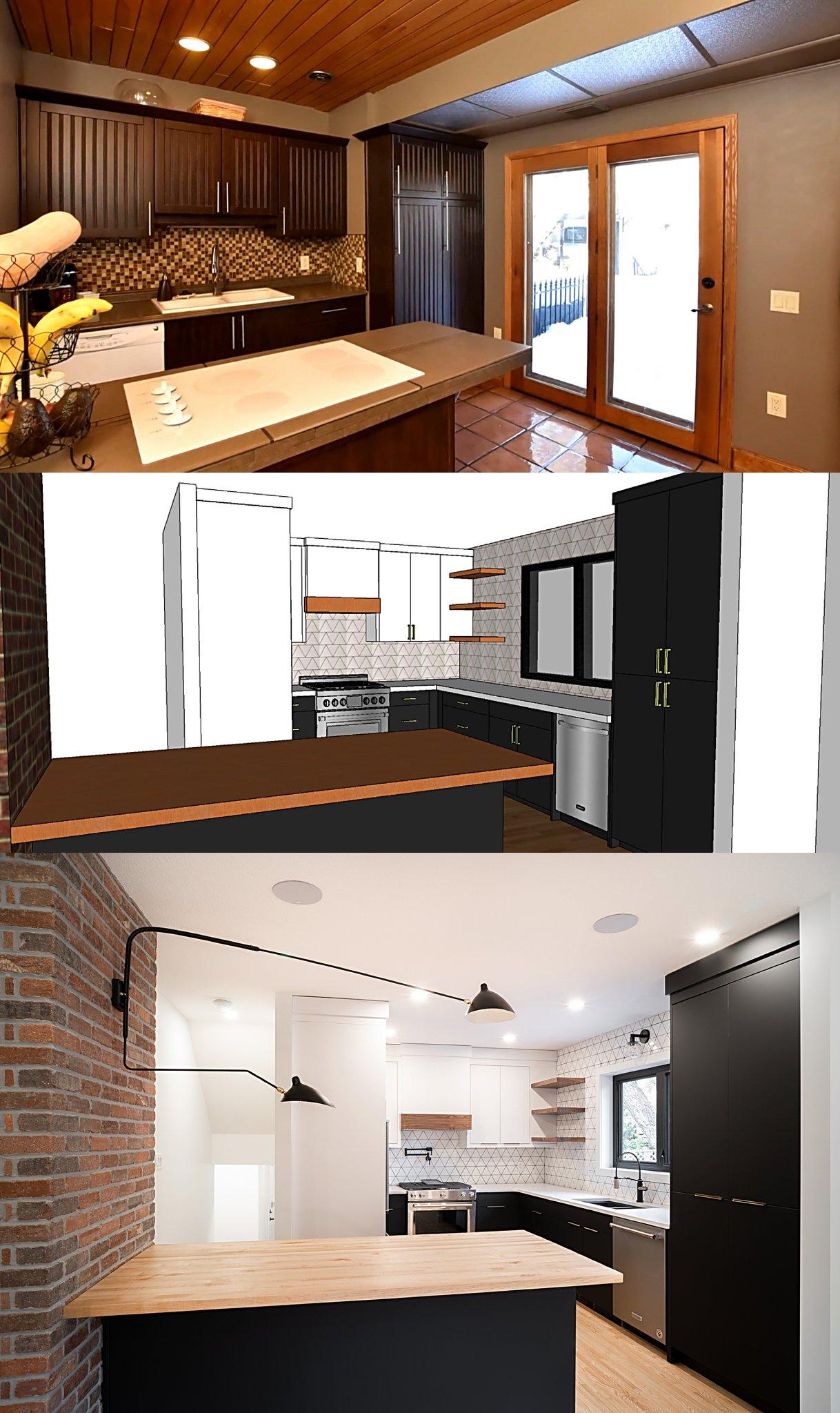 Before//Visual Render//Afer