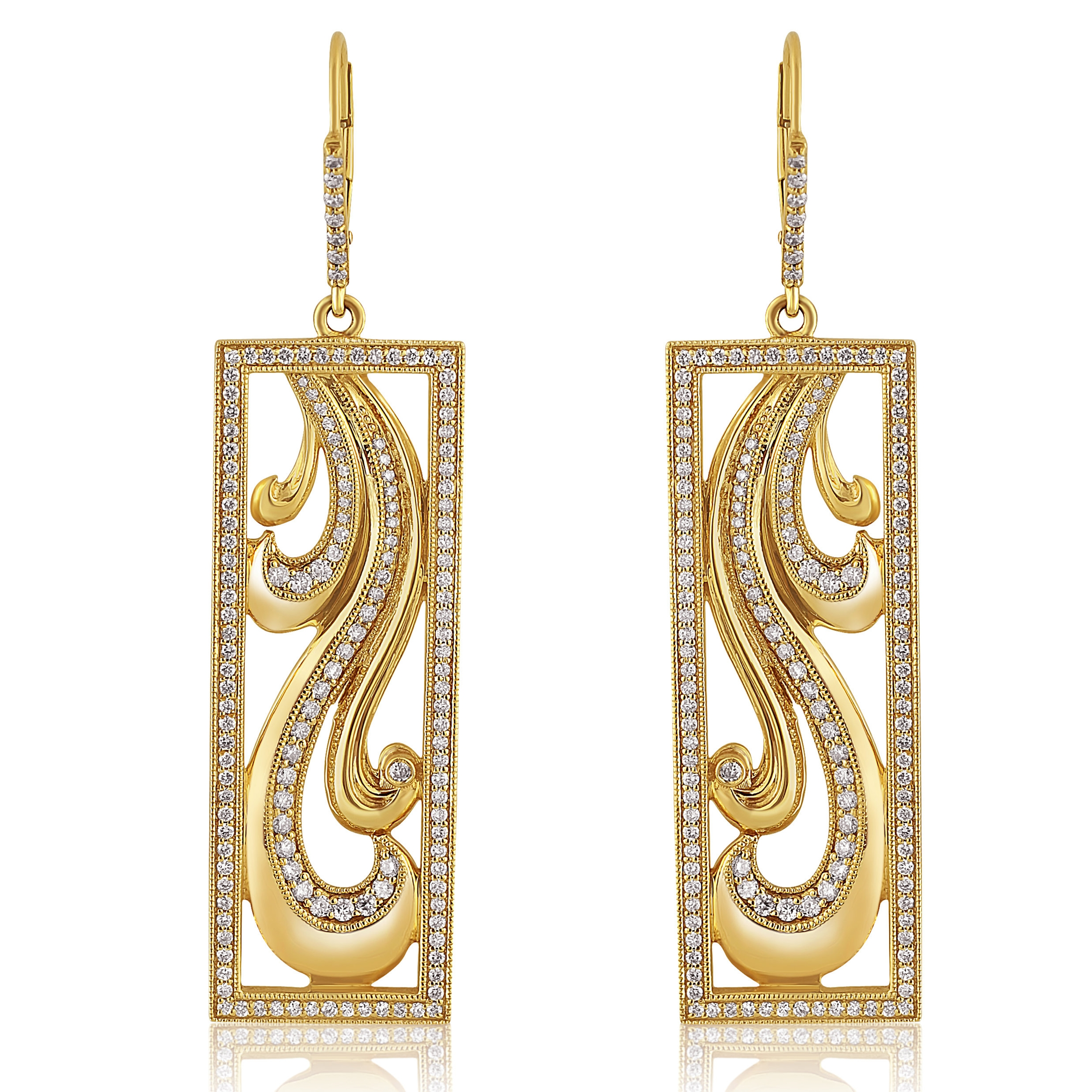 Rectangular Statement Earrings