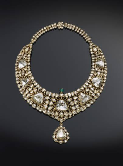 'The Nizam of Hyderabad necklace' an antique diamond, emerald and enamel necklace