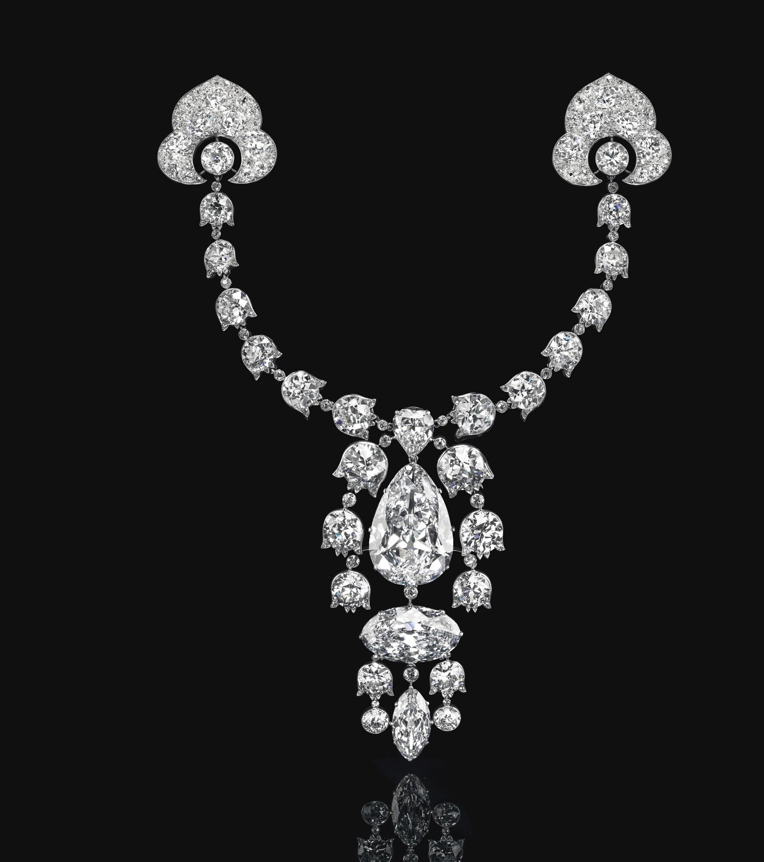 Belle Époque diamond devant-de-corsage brooch, Cartier