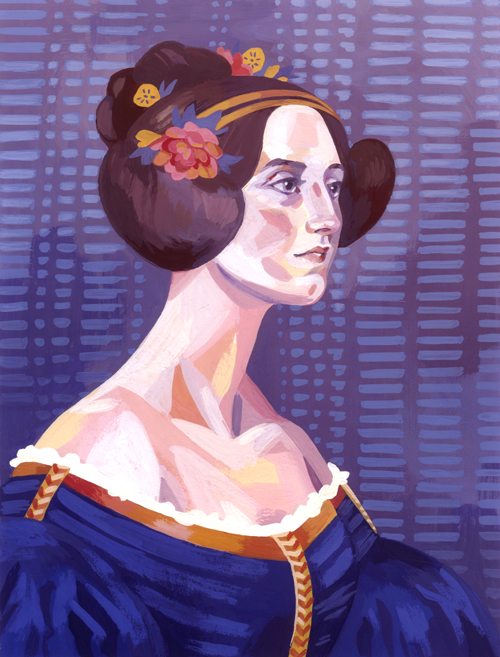 Ada Lovelace  gouache, 2014