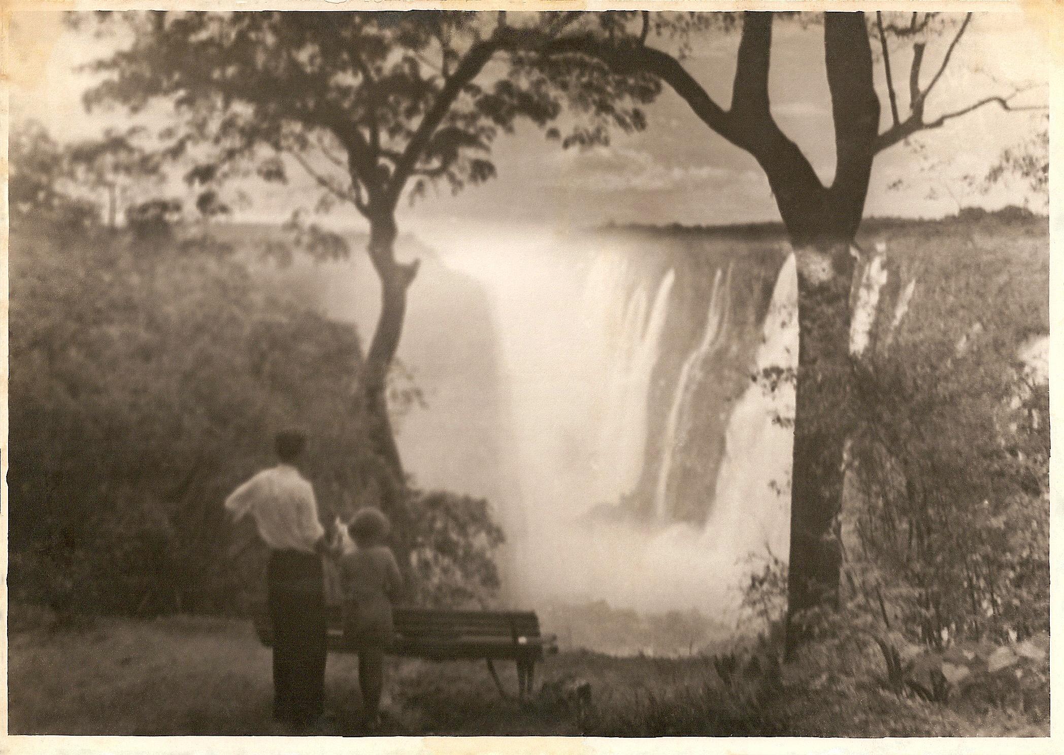 """""""At Victoria Falls, December 1937"""""""