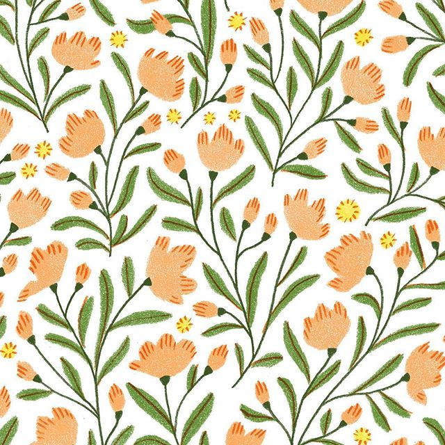 New pattern for some product packaging! . . . #pattern #surfacedesign #florals #flowerpattern #floralpattern #illustration #illustrationpattern