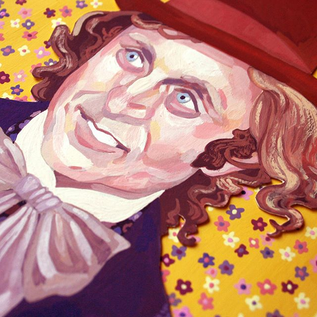 An old portrait I keep forgetting about. Resurrected and finally gets a background I'm happy with. . . . #illustration #illustrator #willywonkaandthechocolatefactory #gouache  #gouachepainting  #gouacheillustration  #gouacheportrait  #illustratorsoninstagram #genewilder  #portraitillustration #floralbackground #70sfloral