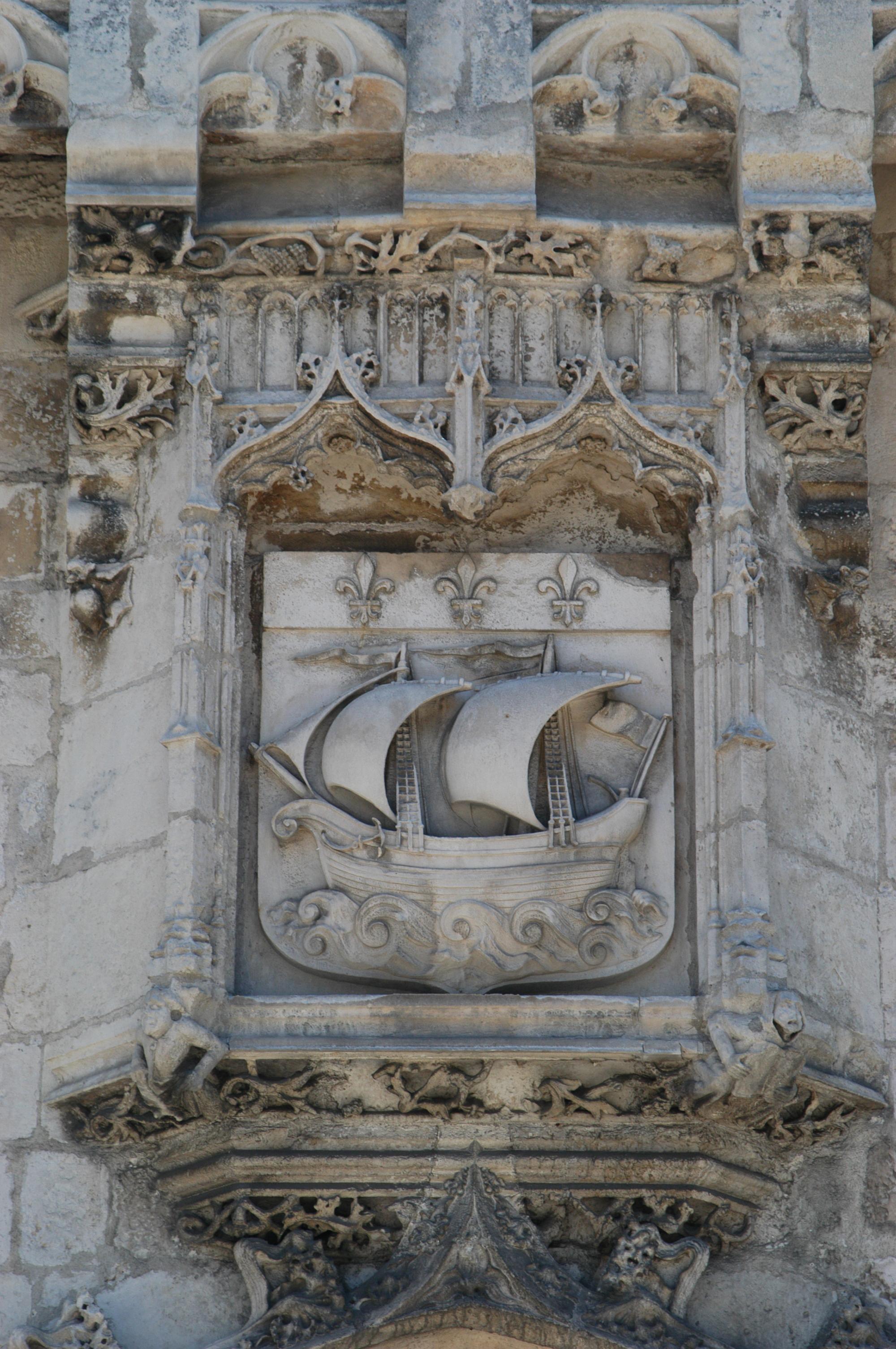 Détail de la façade du Musée de la Marine