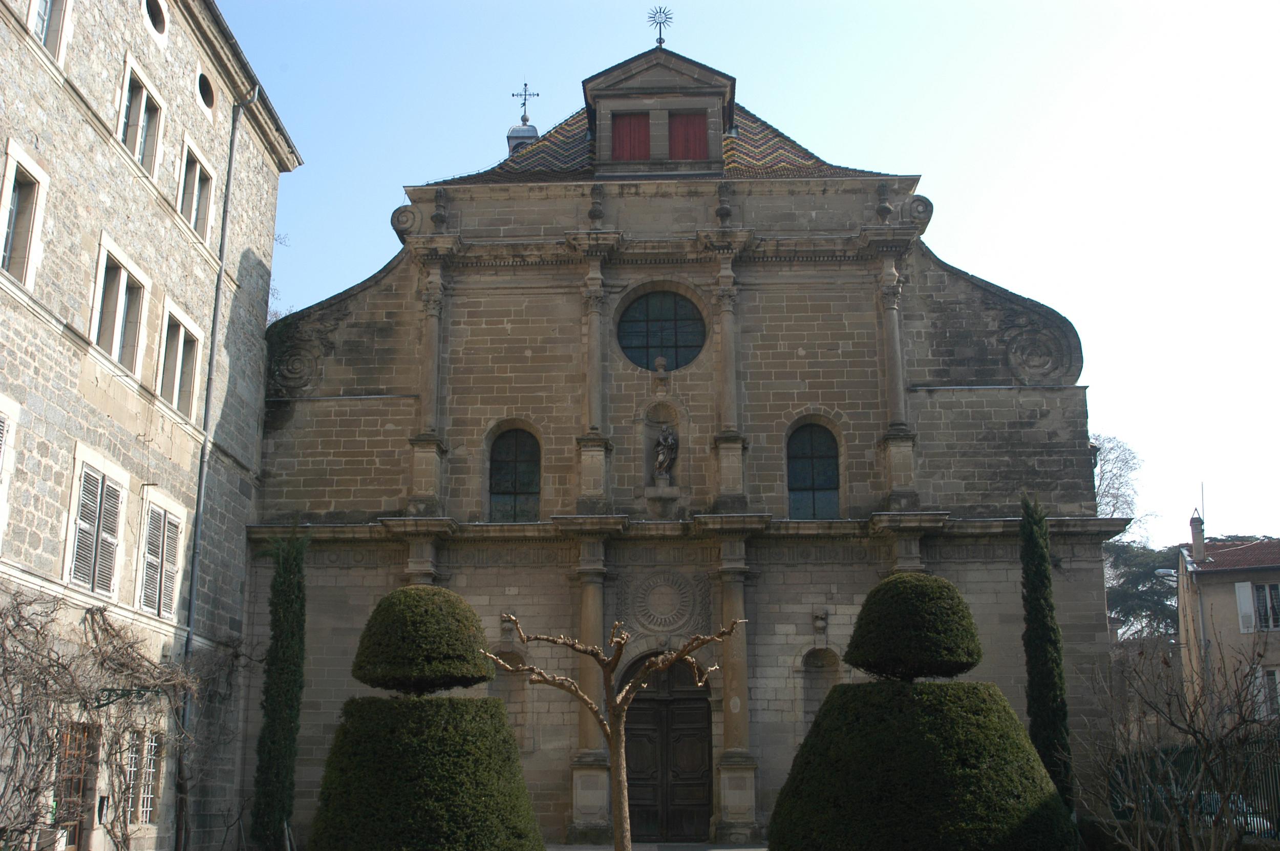 Façade de la Chapelle du Collège jésuite