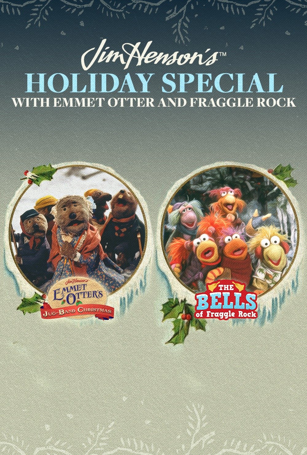 Celebrate the holidays with Jim Henson! Two beloved specials have been remastered and are coming to the big screen, Emmet Otter's Jug-Band Christmas and The Bells of Fraggle Rock. The event includes an all-new featurette with a special guest!    Other showtimes:  December 10 @ 1, 4PM, December 16 @ 1PM at various theaters