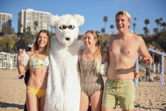 It's Santa Monica's second annual polar bear swim! Take a plunge in the great Pacific, then warm up in a heated Beach House pool! Celebrate a new tradition with friends and family while enjoying poolside activities including s'mores, warm beverages, games and photos with Pat the Polar Bear. All ages encouraged.