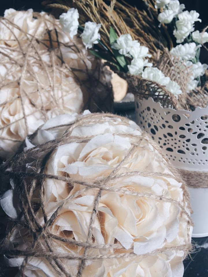 Floral Balls with Twine | Tall Girl Meets World
