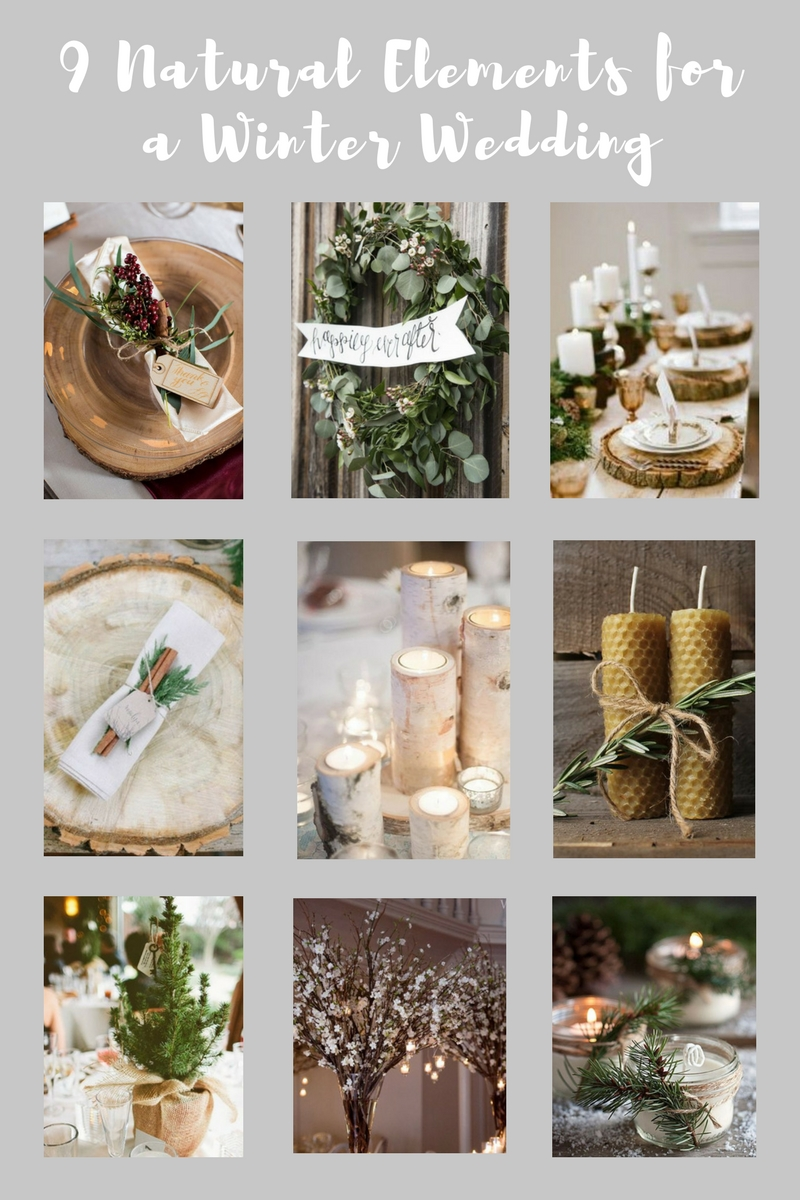 9 Natural Elements for a Winter Wedding | Evelyn's Special Event Decorating