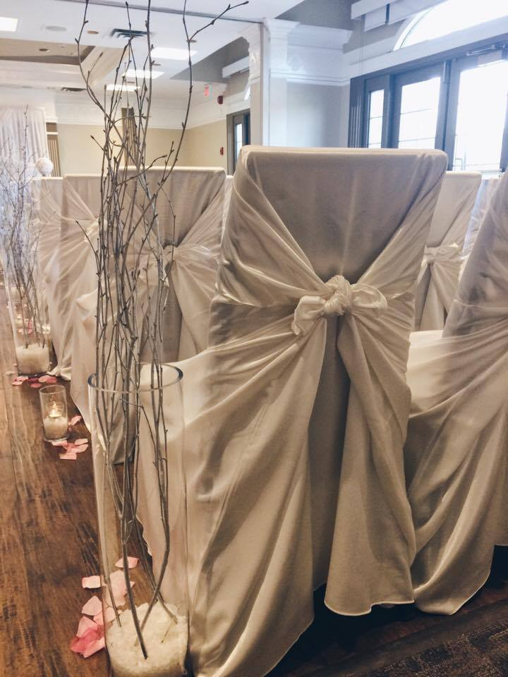 Chair Covers Back | Evelyn's Decorating