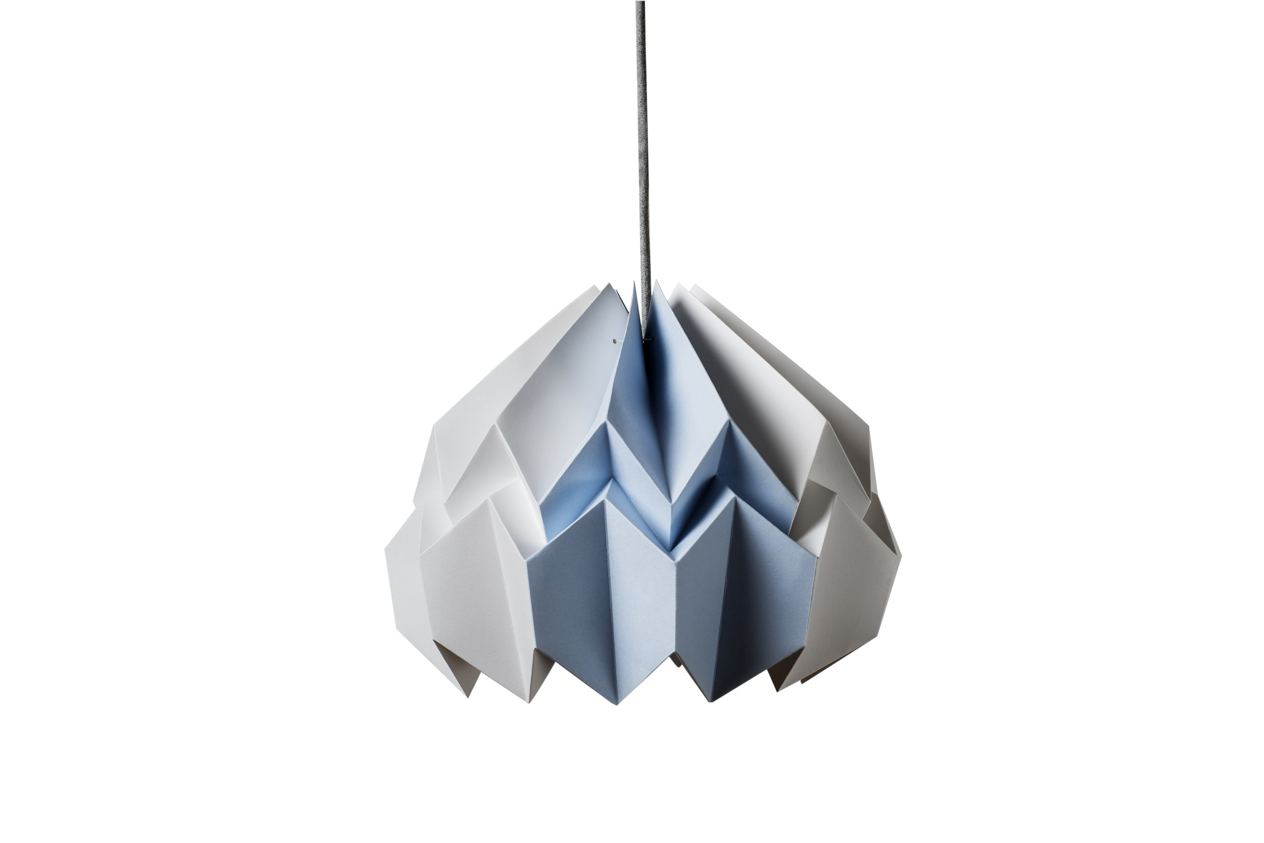 Lotus Shade in White/Azure Blue