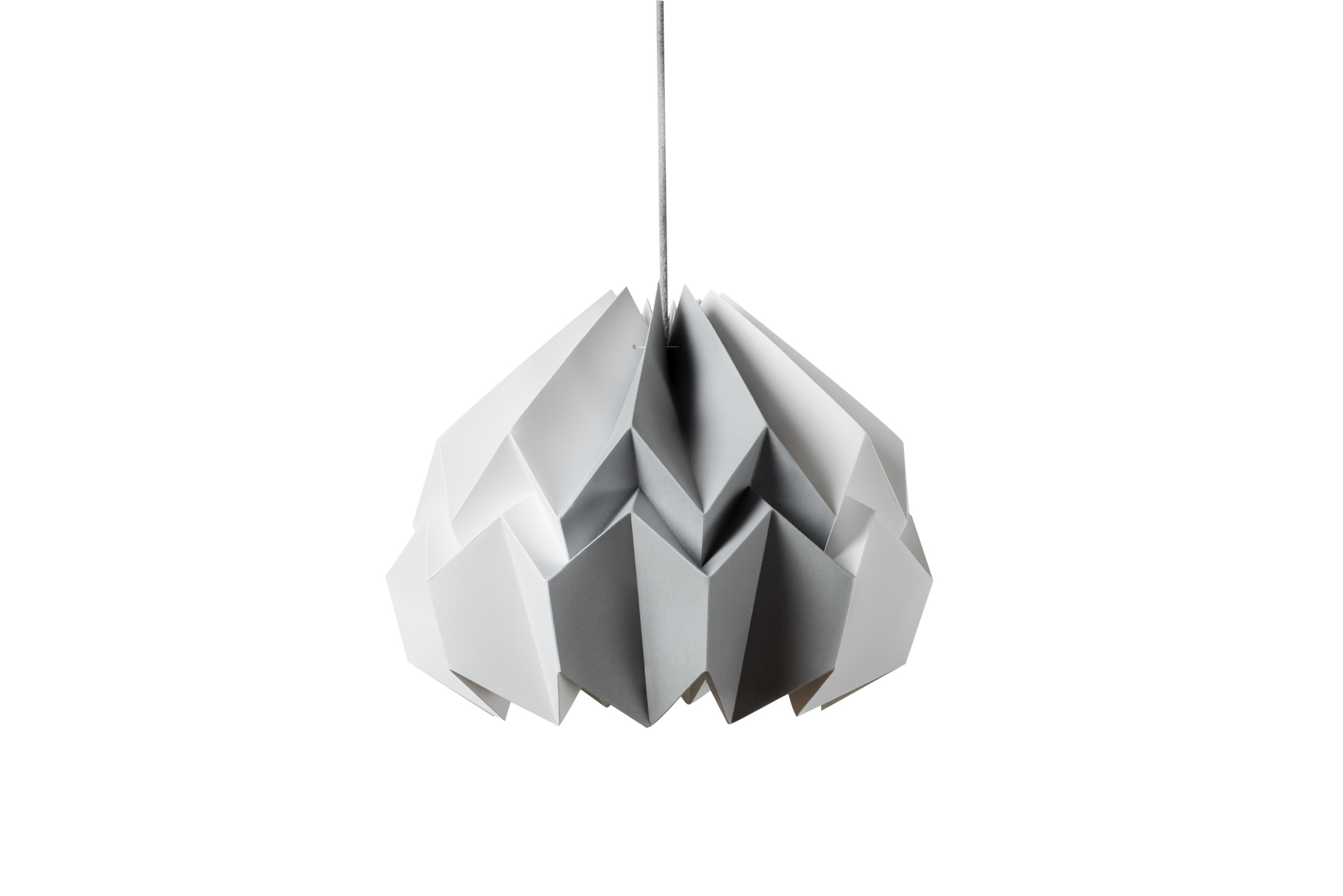 Lotus Shade in White/Gray