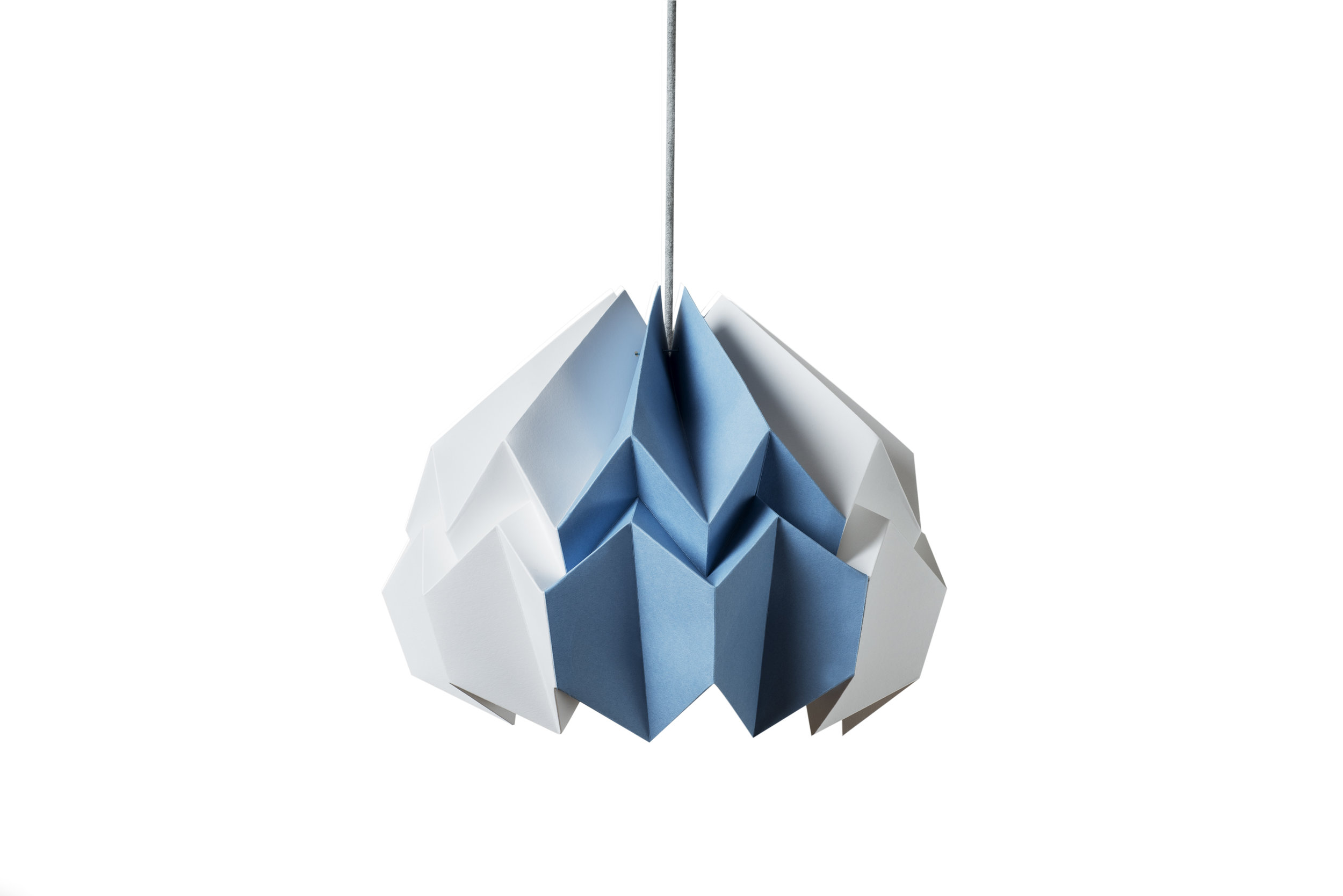 Lotus Shade in White/New Blue