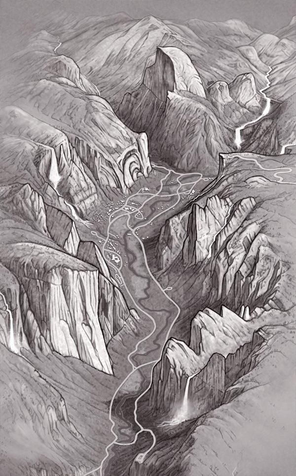 3. Black & White Illustration