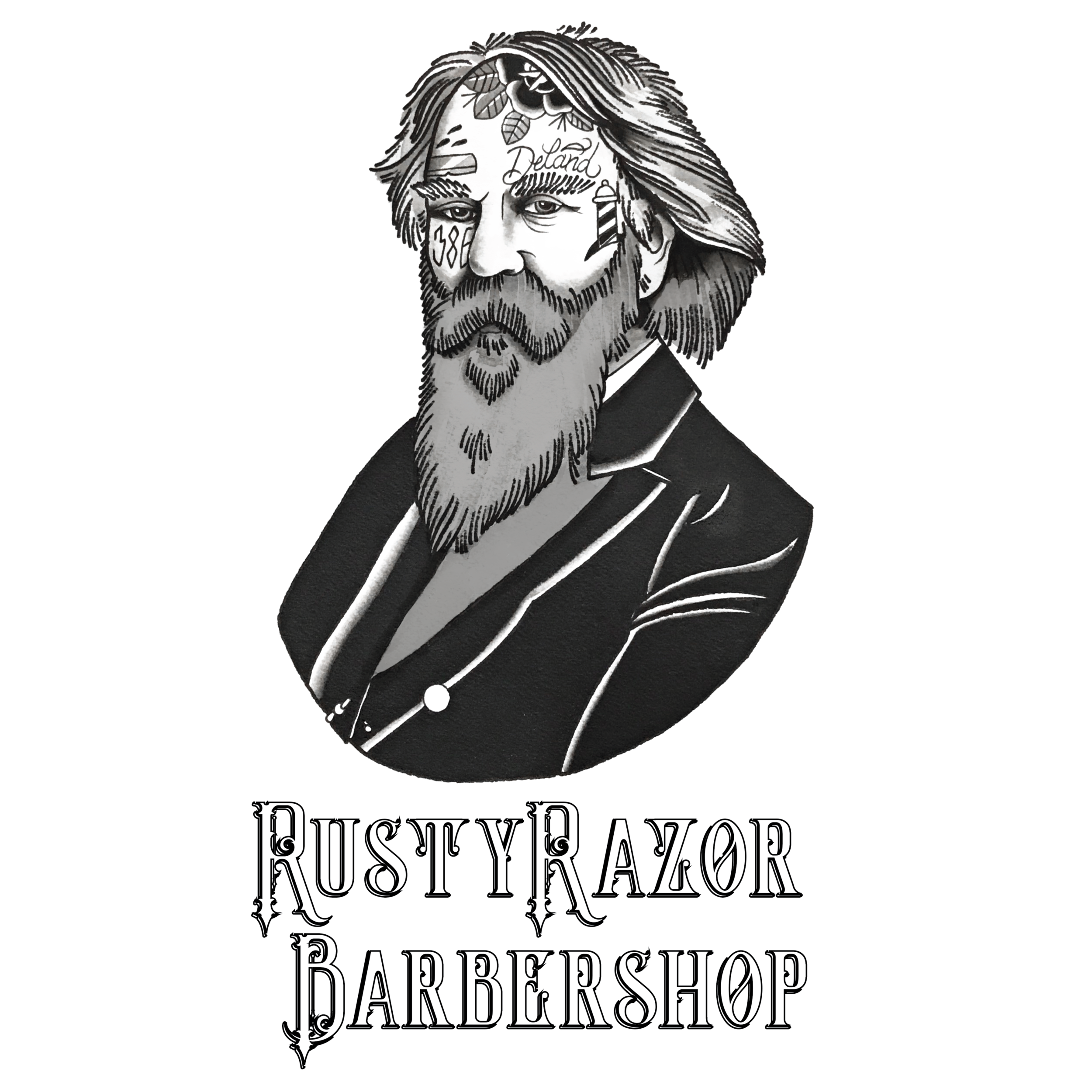 COME IN, YOUR BEST LOOKS AWAITS YOU. - The RustyRazor is the place you never knew you always wanted. Located in the heart of historical downtown Deland, Fl. lies this barbershop. The RustyRazor maintains a very traditional aesthetic while flawlessly combining a modern twist in skill in this age old craft.This is not a cookie cutter, one size haircut fits all chain. This shop caters to the men who have been seeking a quality traditional barbershop experience. From tailored haircuts, down to a traditional hot straight razor shave, this is your one stop shop.From the shop that truly needs no introduction, ask anyone in town and they'll tell you, the RustyRazor is the real deal. Don't waste another minute, book your appointment now and come see what has the whole town buzzin'!Stay handsome Deland.