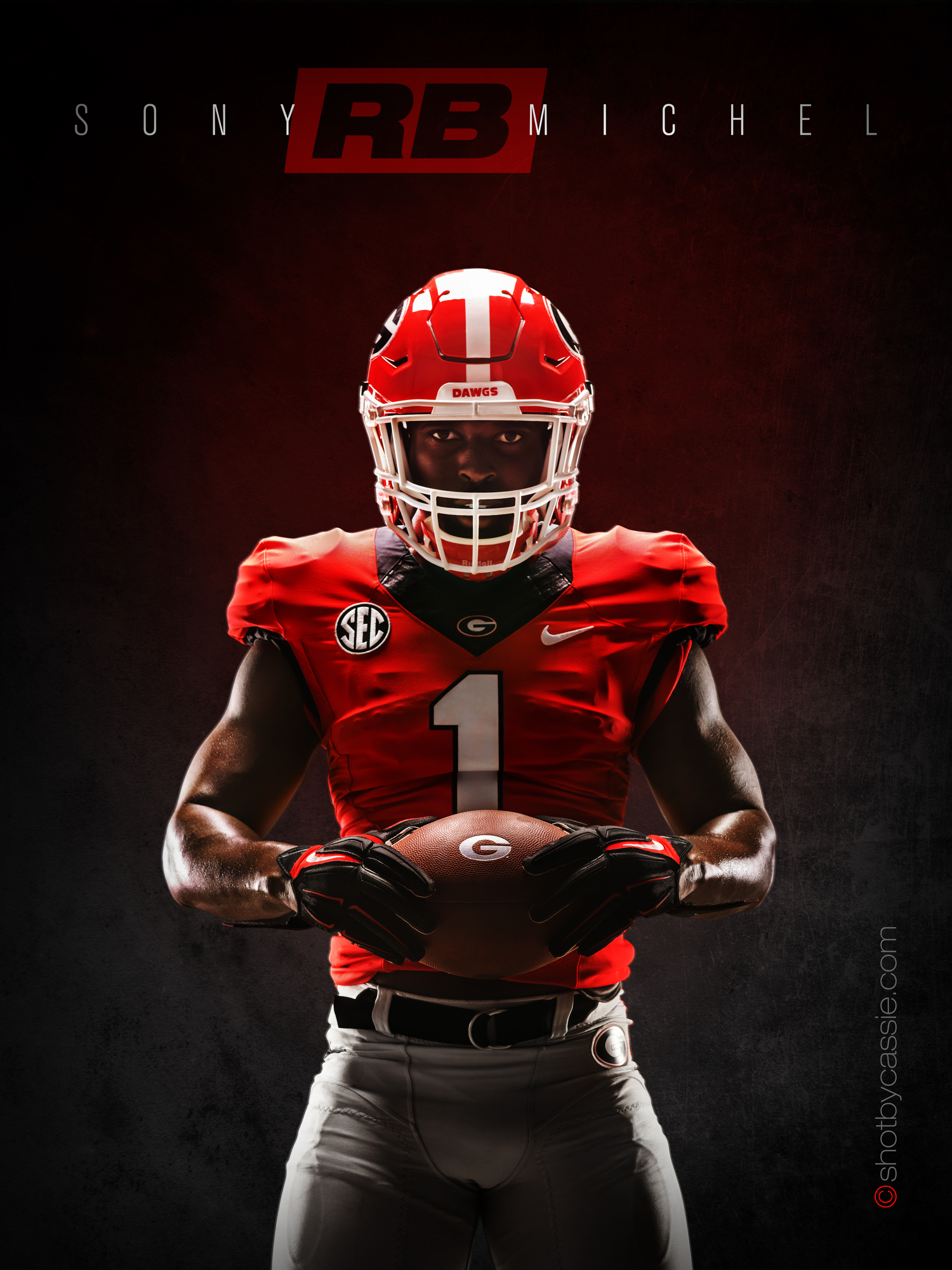 "Athens Georgia Sports Photographer  Georgia Football ""Attack the Day"" Campaign"