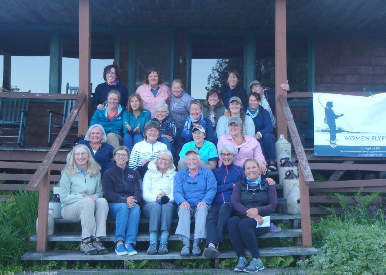 Maine TU Women at a recent retreat.