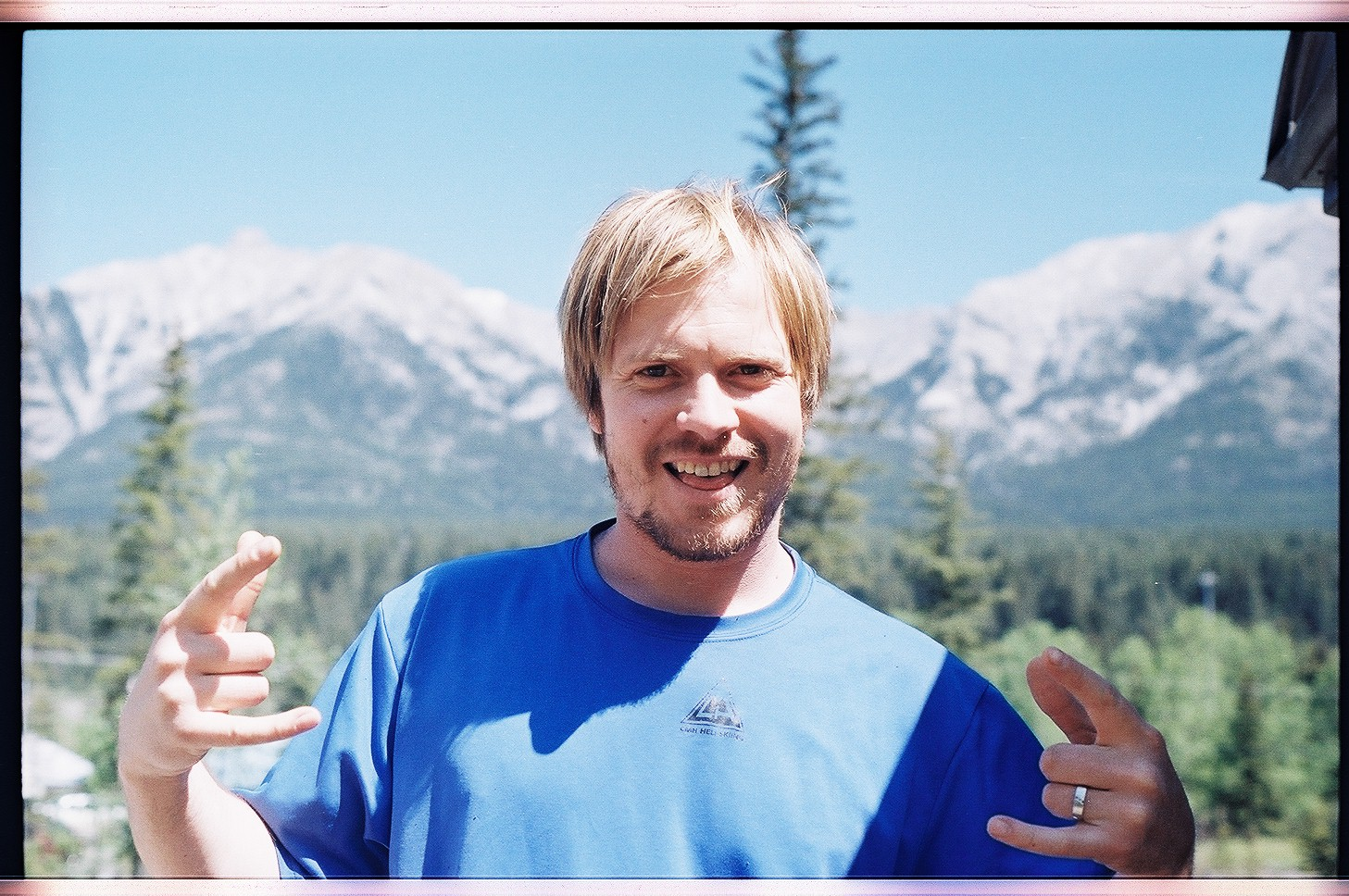 Day 9 Calgary to Golden (300km): our twenty first driver, Adam! Super chill dude who drove us to Canmore from Calgary.