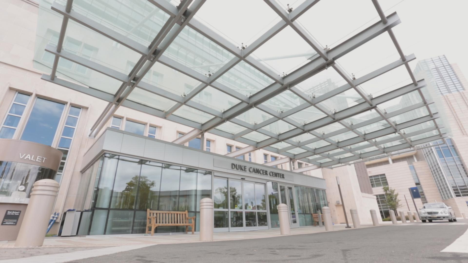Duke Cancer Institute entrance in Durham North Carolina