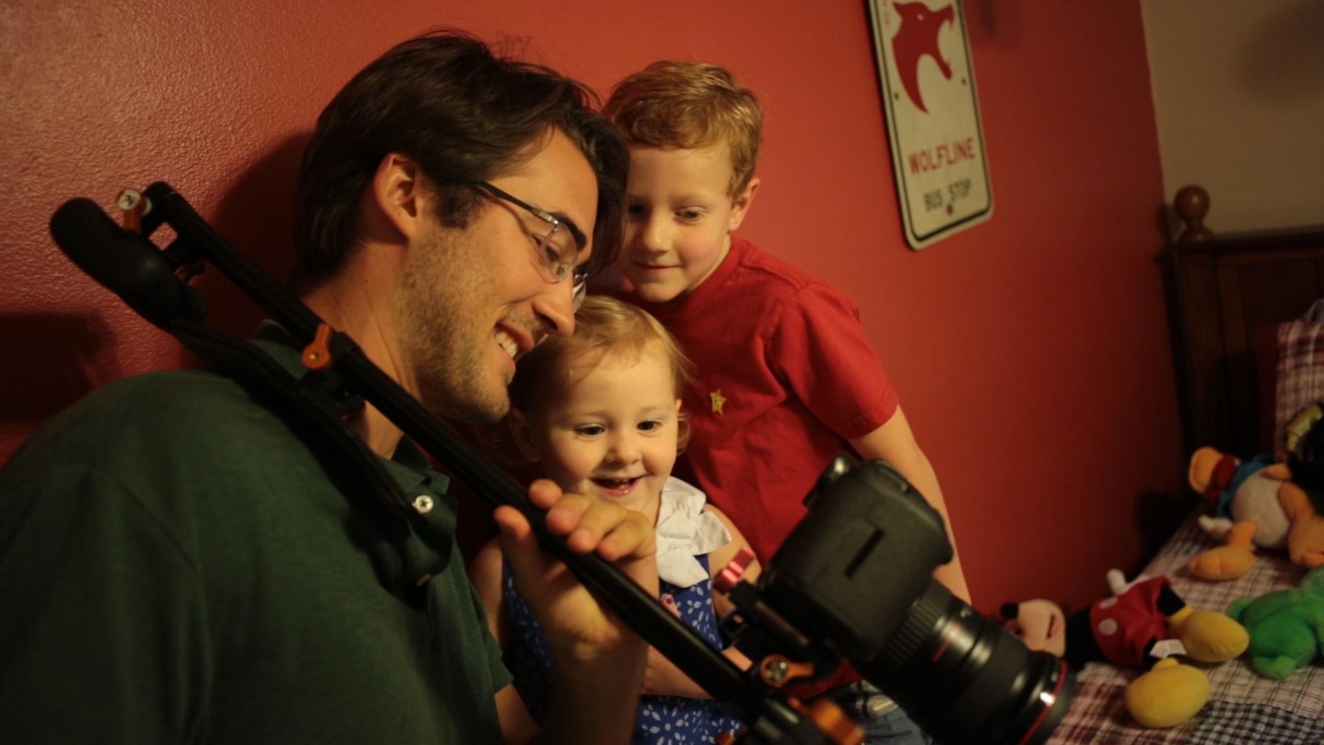 Woodwalk David Gwynn shares video with kids
