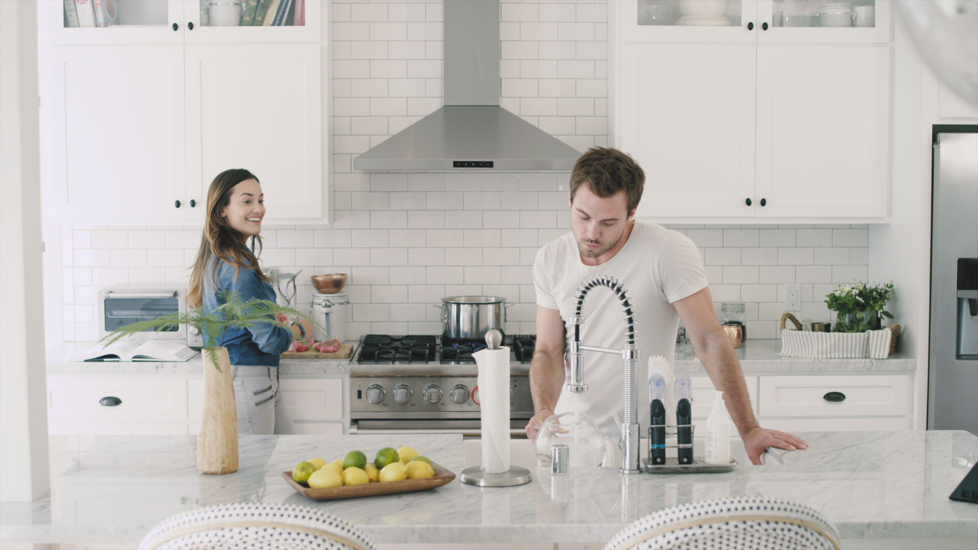 Alexandra Rodriguez-Hunter-Garner-actors-los angeles-prizm-kitchen-cute-couple-woodwalk