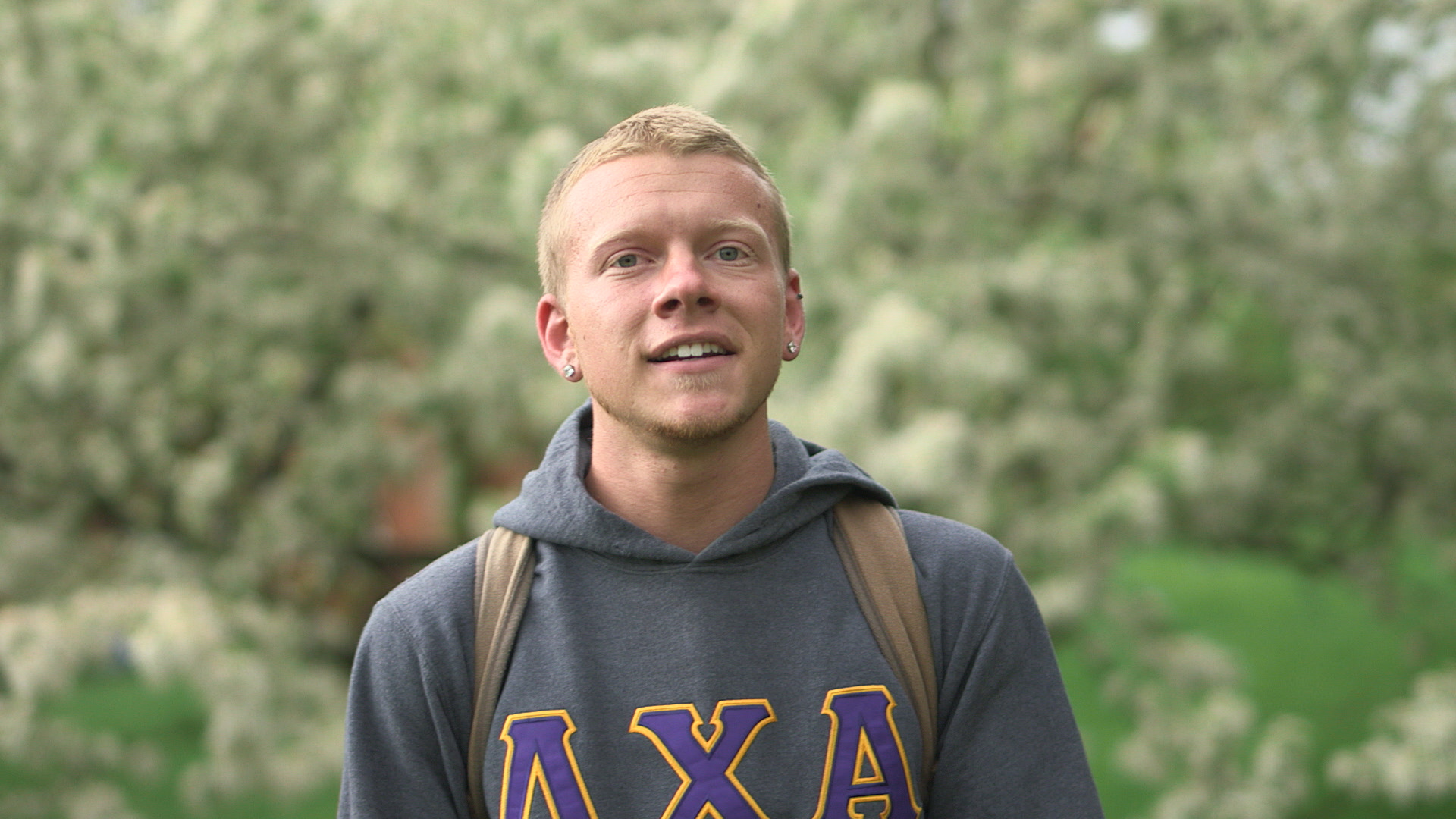 white male college student Elmhurst