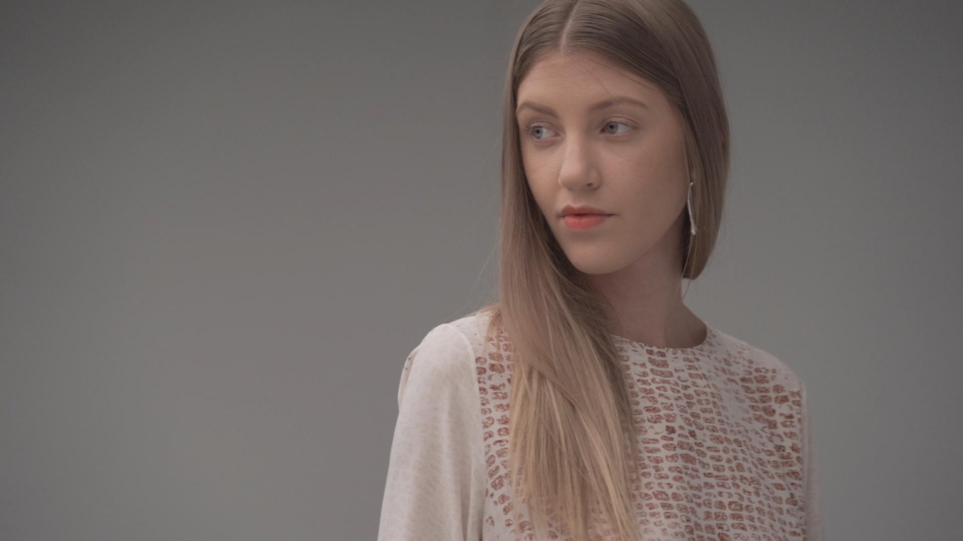LA Fashion Week Woodwalk model